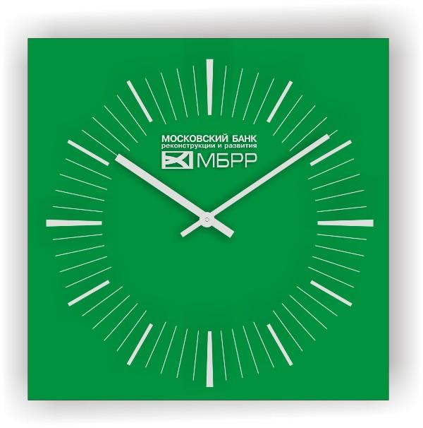 стеклянные часы с логотипом