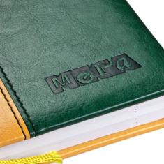 Блинтовое тиснение на записной книжке